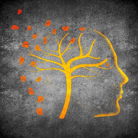cerebro blanco y negro: veces pasan digitales naranja concepto de ilustraci�n sobre negro