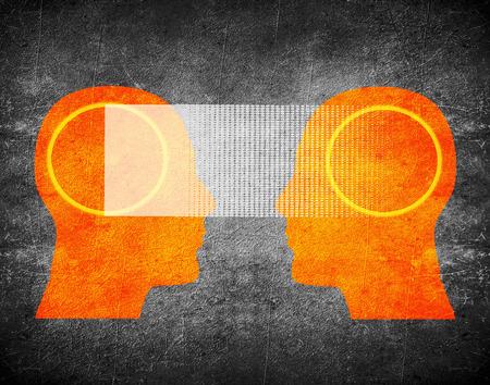 mentalist: telepathy concept digital illustration Stock Photo