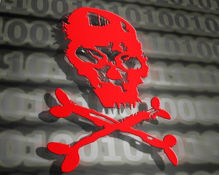 attack: hacker attack concept digital illustration