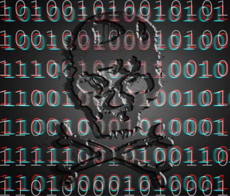 infected: hacker attack concept Stock Photo