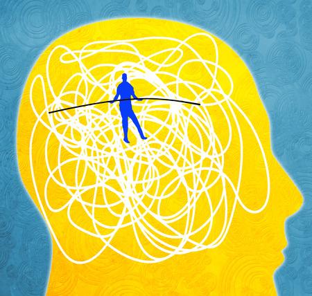 zaburzenia psychiczne koncepcja cyfrowych ilustracji Zdjęcie Seryjne