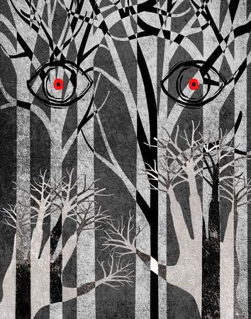 las z oczu i r?k cyfrowych ilustracji Zdjęcie Seryjne