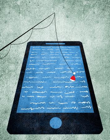 W?dka i smartphone cyfrowych ilustracji Zdjęcie Seryjne