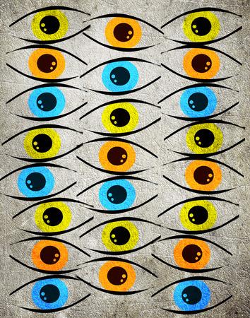 Kolorowe oczy cyfrowego ilustracji t?a