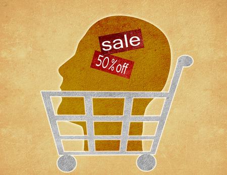head for sale digital illustration