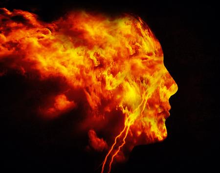fire man digital illustration Zdjęcie Seryjne