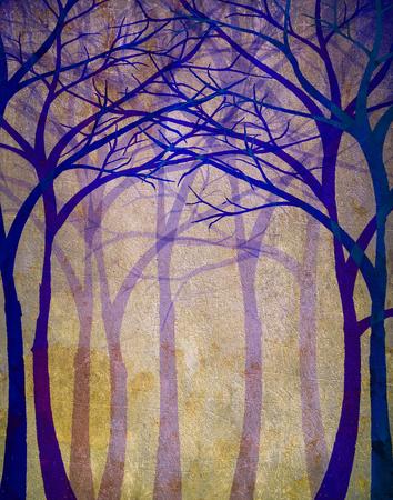 Spooky forest digital illustration