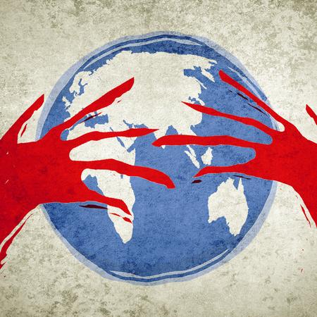 human greed ecology concept digital illustration