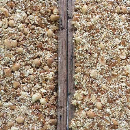 cereal bar: Tailandés dulce de cereales barra del caramelo