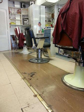 barbershop: old fashioned barber shop