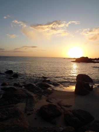 lever: lever de soleil          Stock Photo