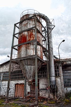 Abandoned grain warehouse