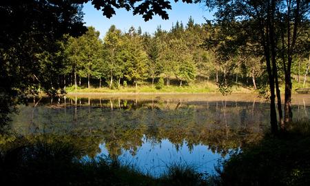 Landscape of Lake Teixeiro (Lugo) Reklamní fotografie