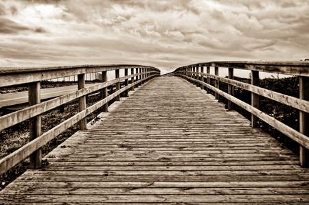 Wooden bridge Banco de Imagens