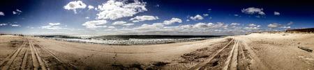 montauk: Montauk beach panorama