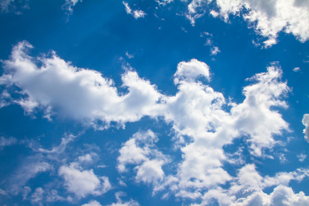 Blue sky with clouds odd shape Stock Photo