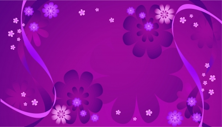 Background from violet, lilac and pink flowers Vector