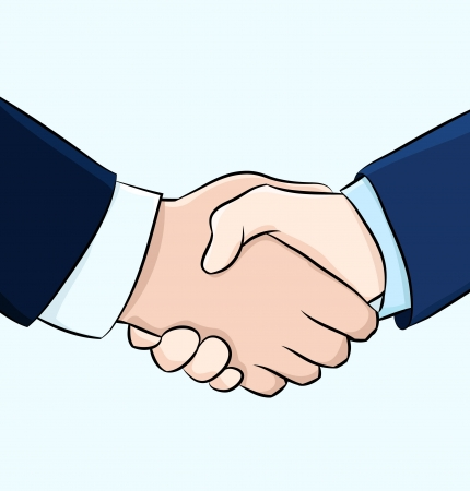 shake hand: Hand shake illustration