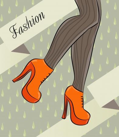 high heels Illustration