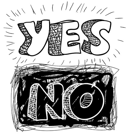 yes-no Stock Vector - 18934818