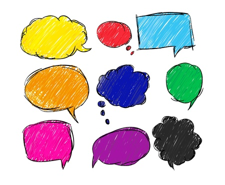 Colorful bubble for speech Illustration