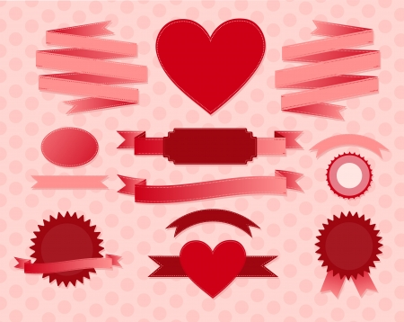 valentine s day: valentine s day ribbons Illustration