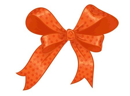 orange gift bow Vector