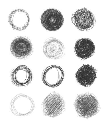 pencils: hand-drawn circles Illustration