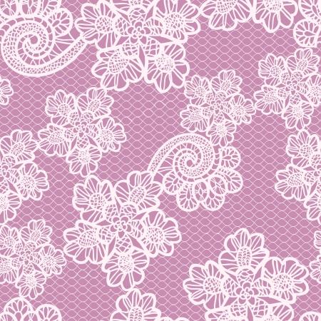 white lace: seamless lace pattern Illustration
