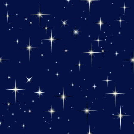 seamless sky: night sky and stars Illustration