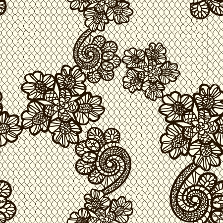 lace pattern: seamless lace pattern Illustration