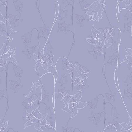 bellflower seamless Vector