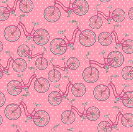 bicycles, seamless pattern Vector