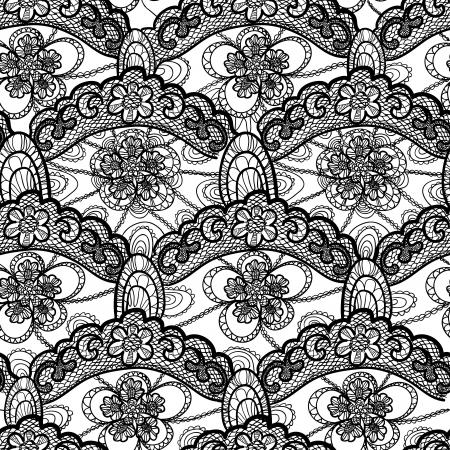 seamless lace pattern Illustration