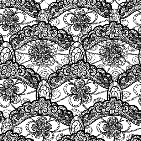 black lace: seamless lace pattern Illustration