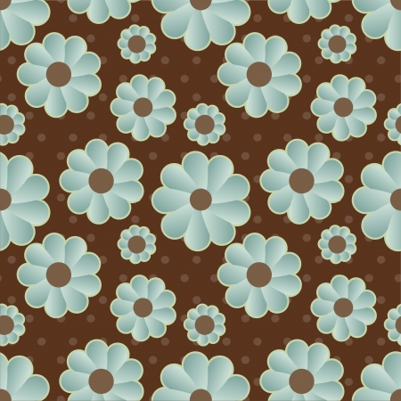 pink and brown background: daisy retro background Illustration