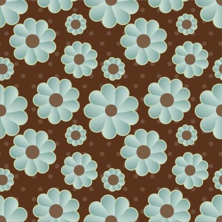 daisy retro background Иллюстрация