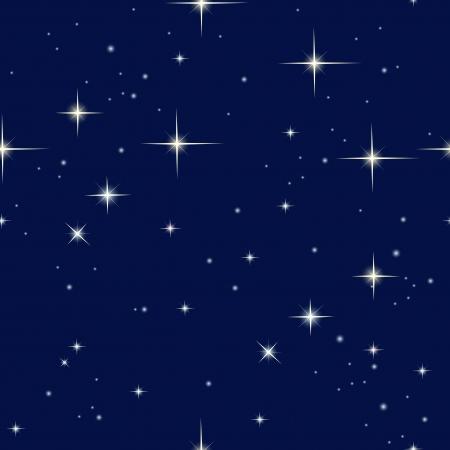 night sky and stars Illustration