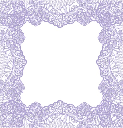 ornamental frame: violet lace