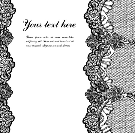 lace background: black lace Illustration