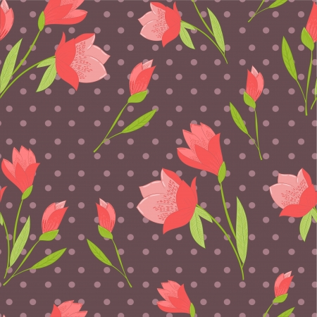 flower retro background Vector