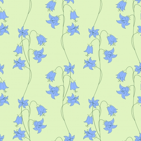 bellflower: bellflower seamless Illustration