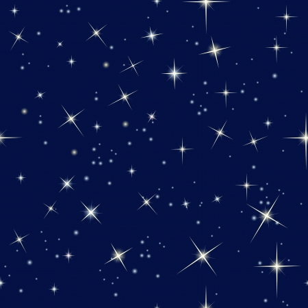 night sky and stars Иллюстрация