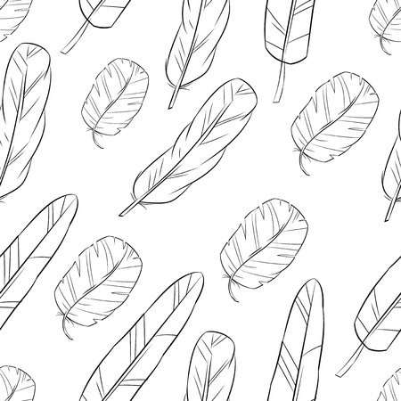 seamless pattern with feather Stock Vector - 20287011