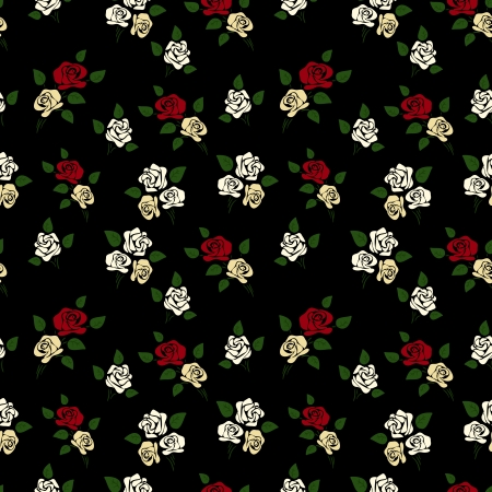 Abstract Elegance seamless floral pattern Illustration