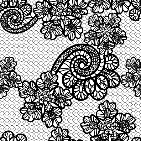 black lace: seamless black lace background