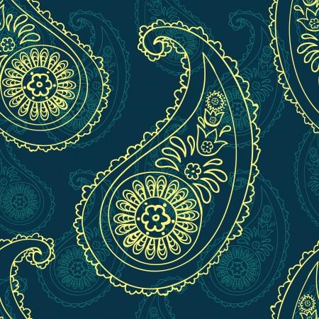 beautiful   paisley seamless background Vector