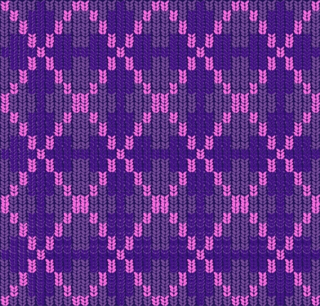 knitted background: seamless knitted background with rhombus. Illustration