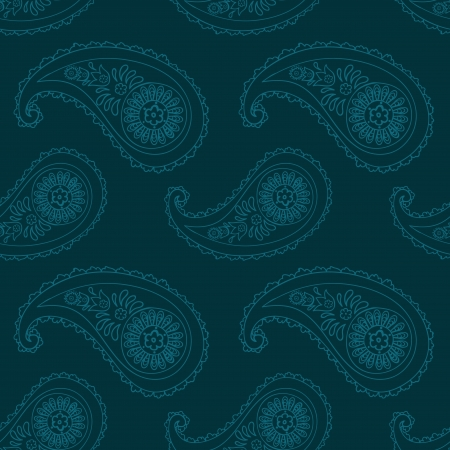 Seamless pattern based on traditional Asian elements Paisley Vector