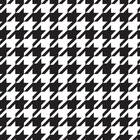 Houndstooth seamless pattern black and white photo